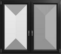 KF 602 - Farbe: Schwarzgrau Glatt