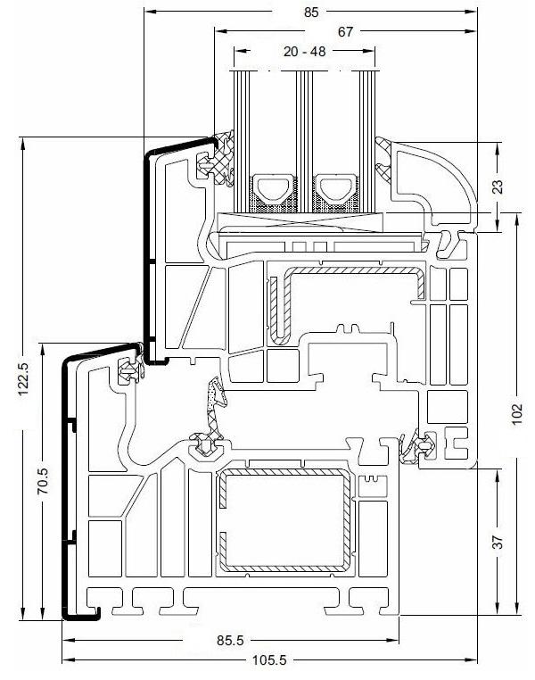 kunststoff alu fenster chmenia. Black Bedroom Furniture Sets. Home Design Ideas